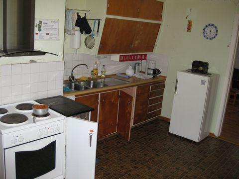 compact kitchen interior